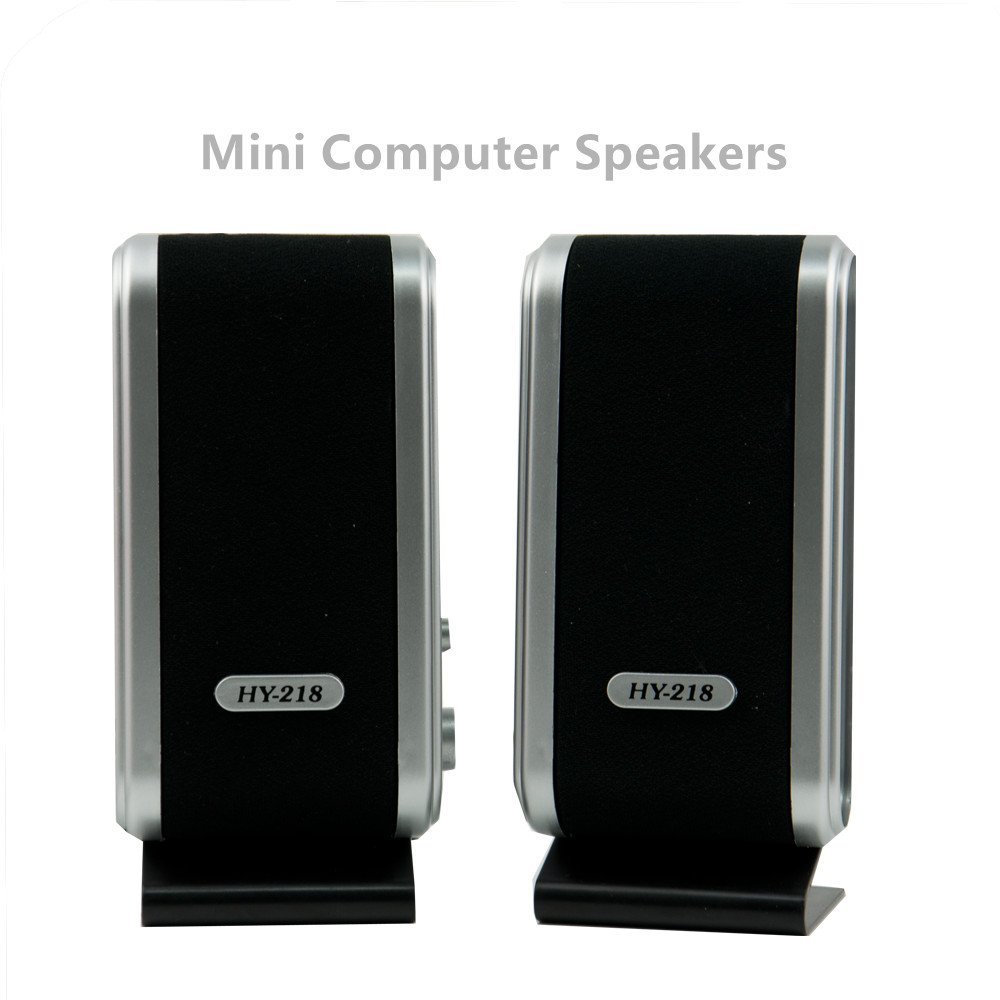 USB Power Multimedia Stereo Wired Computer Speakers Stereo 3.5mm Jack for Desktop PC Laptop
