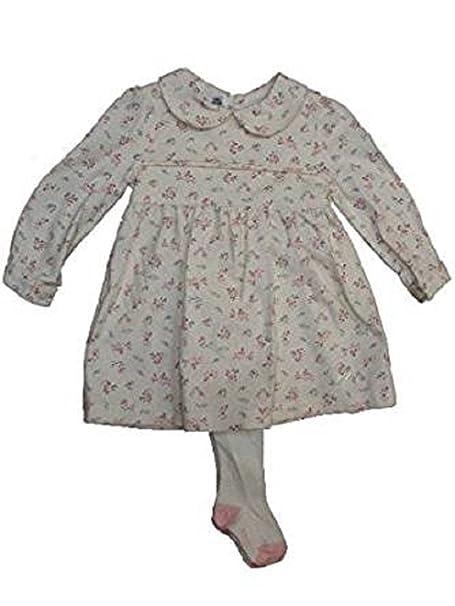 BABYBOL - Vestido - Trapecio - para bebé niña Beige Beige 3 Meses