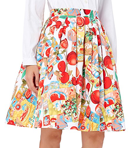 GRACE KARIN Short 50's Retro Pleated Skirt Bubble Style Size S CL6294-8