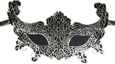 Silver Fox Mask,Dance Lace Mask,Creative Fashion Party Queen Veil,Mask Trinkets