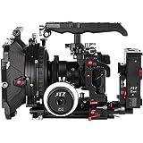 JTZ DP30 Camera Cage Baseplate Matte Box Suivre Focus Système d'alimentation Système de serrage à l'épaule KIT Pour SONY A7 & A7II (Cage rig+Power Supply+Follow Focus+Matte Box)