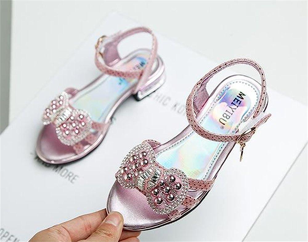 Toddler//Little Kid//Big Kid AGoGo Girls Open Toe Strap Sandals Summer Casual Shoes Princess Flats Sandals