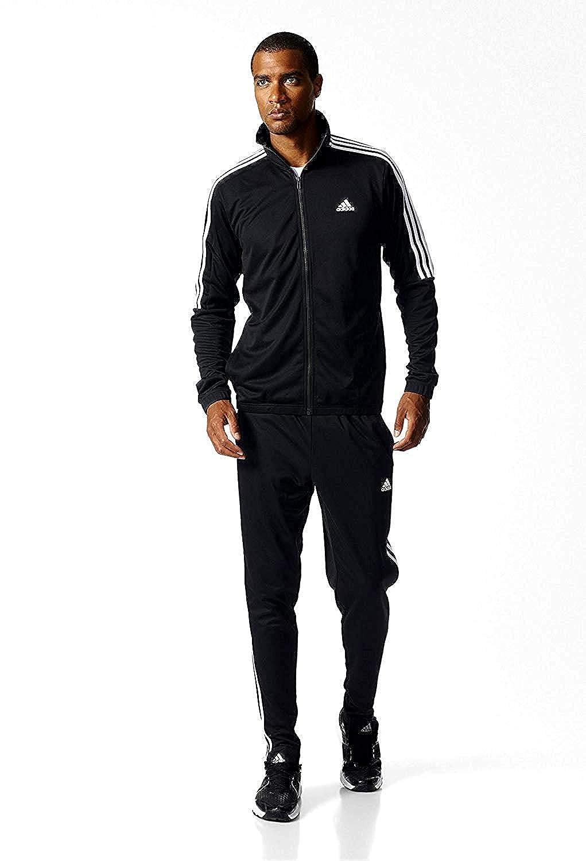 30d1a20a52 adidas Men s Tiro Track Suit 3 Stripes Tracksuit Black/White: Amazon ...