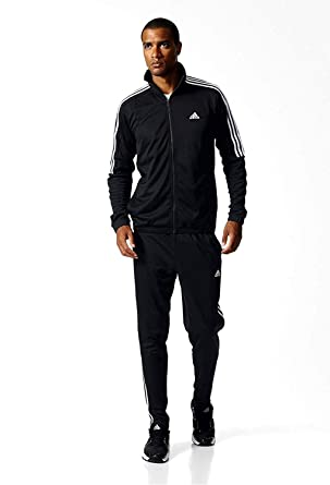 cf300be9bb adidas Men s Tiro Track Suit 3 Stripes Tracksuit Black/White: Amazon ...
