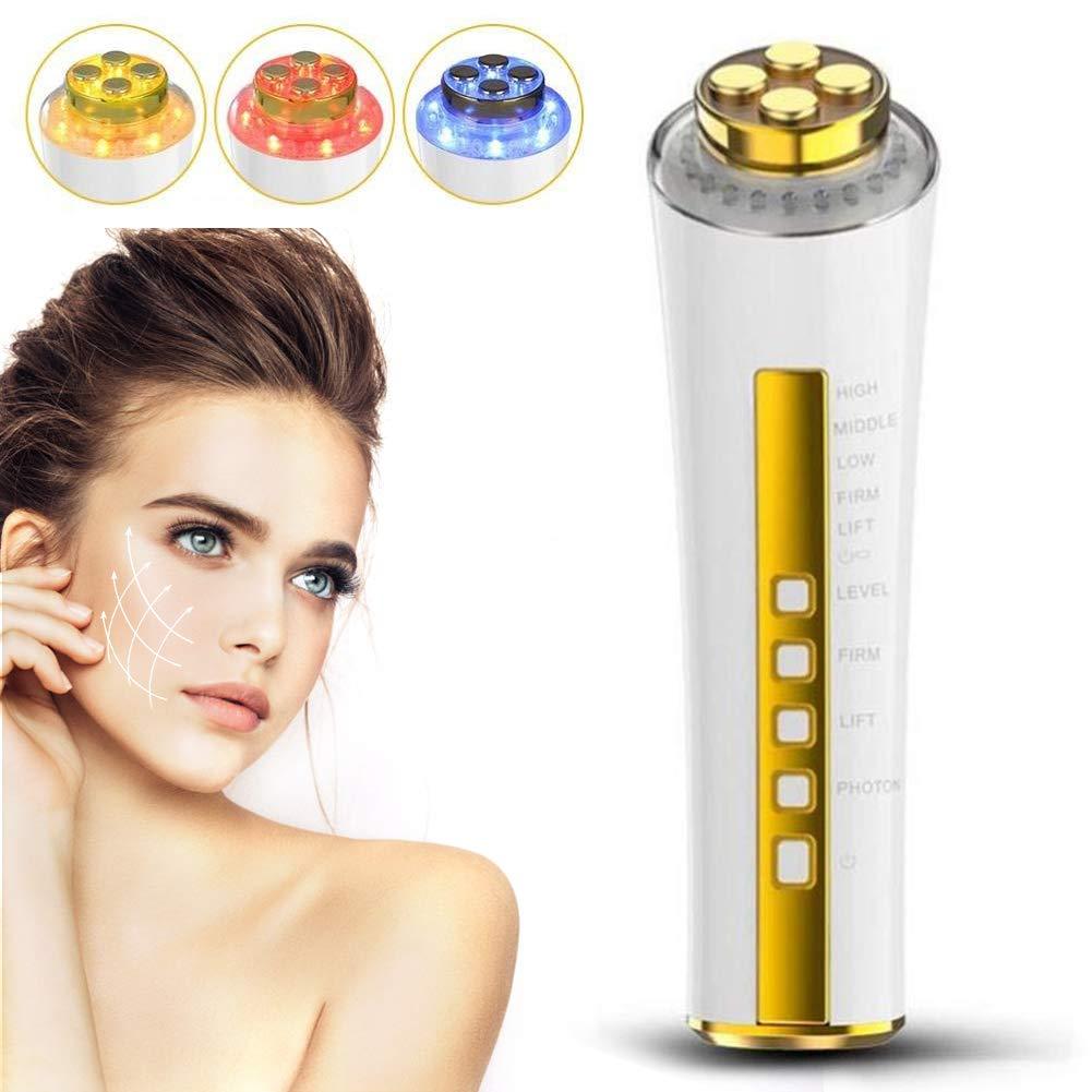 Radiofrecuencia facial instrumento de belleza RF, 3 Colores Remover para masajeador piel, anti-edad para la masajeador piel,eliminar las arrugas de la piel facial,buen regalo para mamá TMISHION