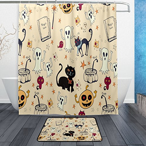 Naanle Funny Halloween Decorative Spooky Ghost Black Cat