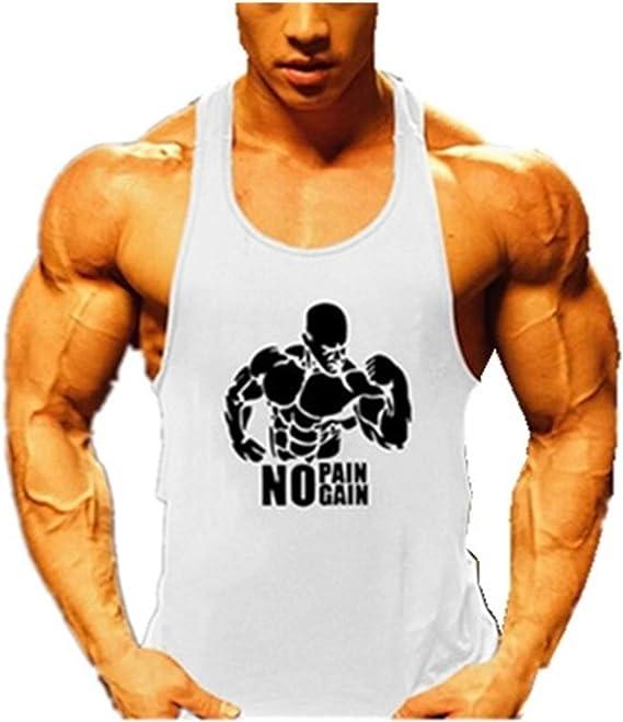 Hommes La Musculation D/ébardeur Raidisseur Gilet Gym Aptitude Coton,Noir,XL