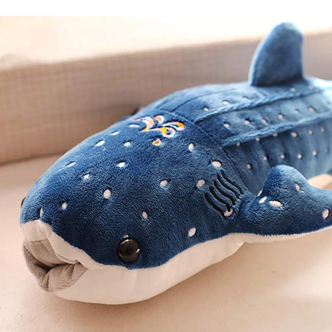 Ballena Rellena de Regalo para Niños Blue 50cm Muñeca de Tela de pez Grande HshDUti Lindo Juguete de Peluche de Tiburón