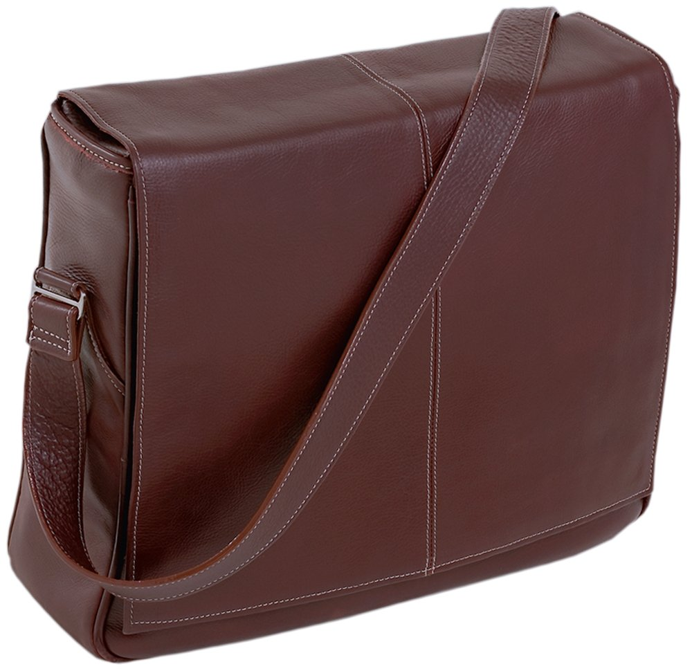 Siamod 45356 San Francesco Napa Cashmere Leather Messenger Bag (Cherry Red)