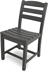 POLYWOOD TD100GY La Casa Café Dining Side Chair, Slate Grey