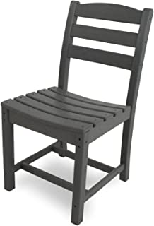 product image for POLYWOOD TD100GY La Casa Café Dining Side Chair, Slate Grey