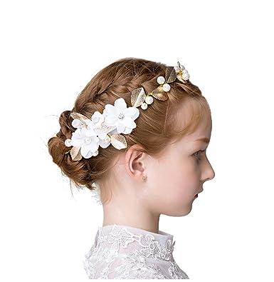 89497f135258d fvermecky子供髪飾り 発表会 ヘアアクセサリー ジュニア フォーマル バレエ カチューシャ 子供 ティアラ パール フラワー
