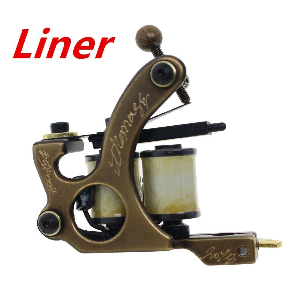Thomas Coil Tattoo Machine Tattoo Gun Brass Frame 8 Wrap Coils (Liner)