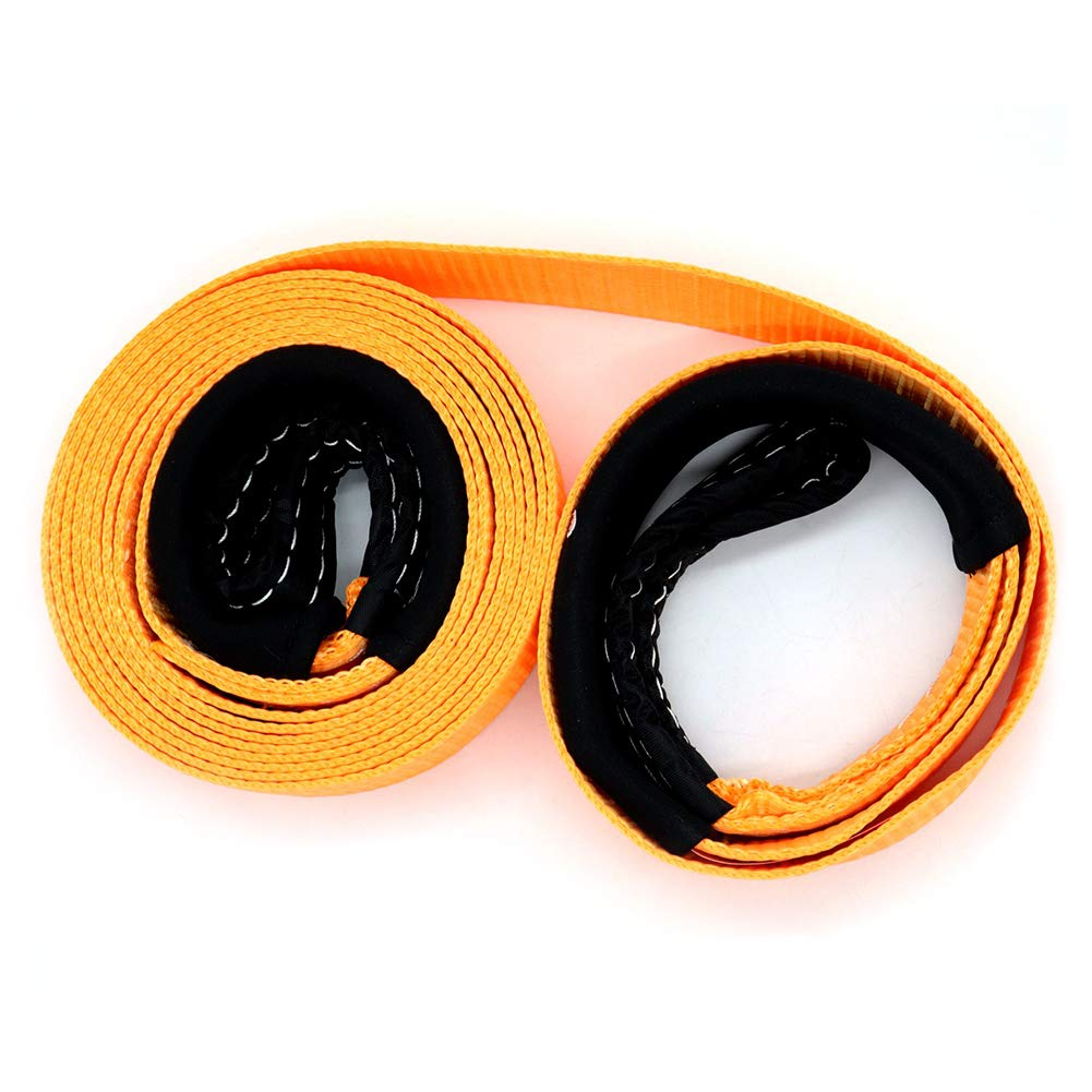5 toneladas Ahomi Cuerda de Remolque para Coche 40 x 5 cm Color Naranja Resistente