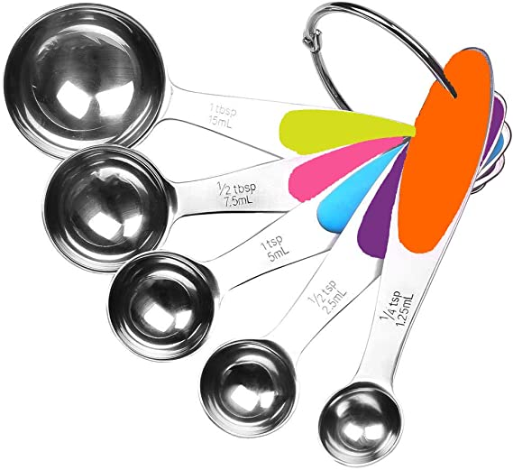 5PCS Stainless Steel Measuring Spoon Measure Spoon Baking Tool for Home Restaura