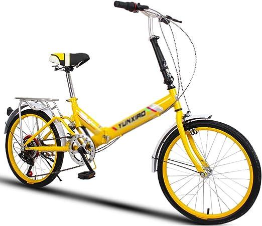 Folding Bikes Bicicleta Plegable Universal de 6 velocidades ...