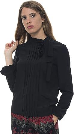 Red Valentino - Camisa de Seda Negra para Mujer Negro 40 ...