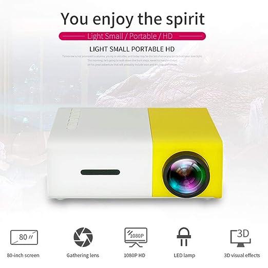 Joojun YG300 Mini Proyector Bajo Techo/en Exteriores Cine De Cine ...