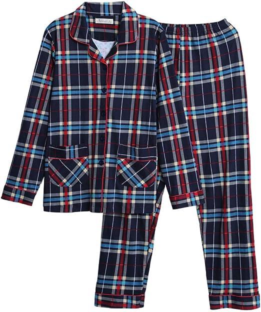 PAJAMASX Pijamas, Pijamas, Algodón, Cuadros, Manga Larga, Otoño E ...