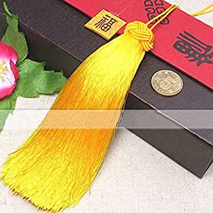 Joe Foreman Tassels Pendant for DIY Jewelry Making Golden Yellow 13cm(Diameter:2.3cm)
