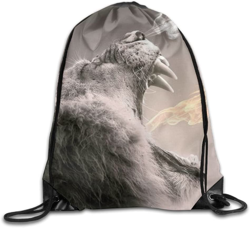 Ferocious Beast Drawstring Backpack Rucksack Shoulder Bags Training Gym Sack For Man And Women