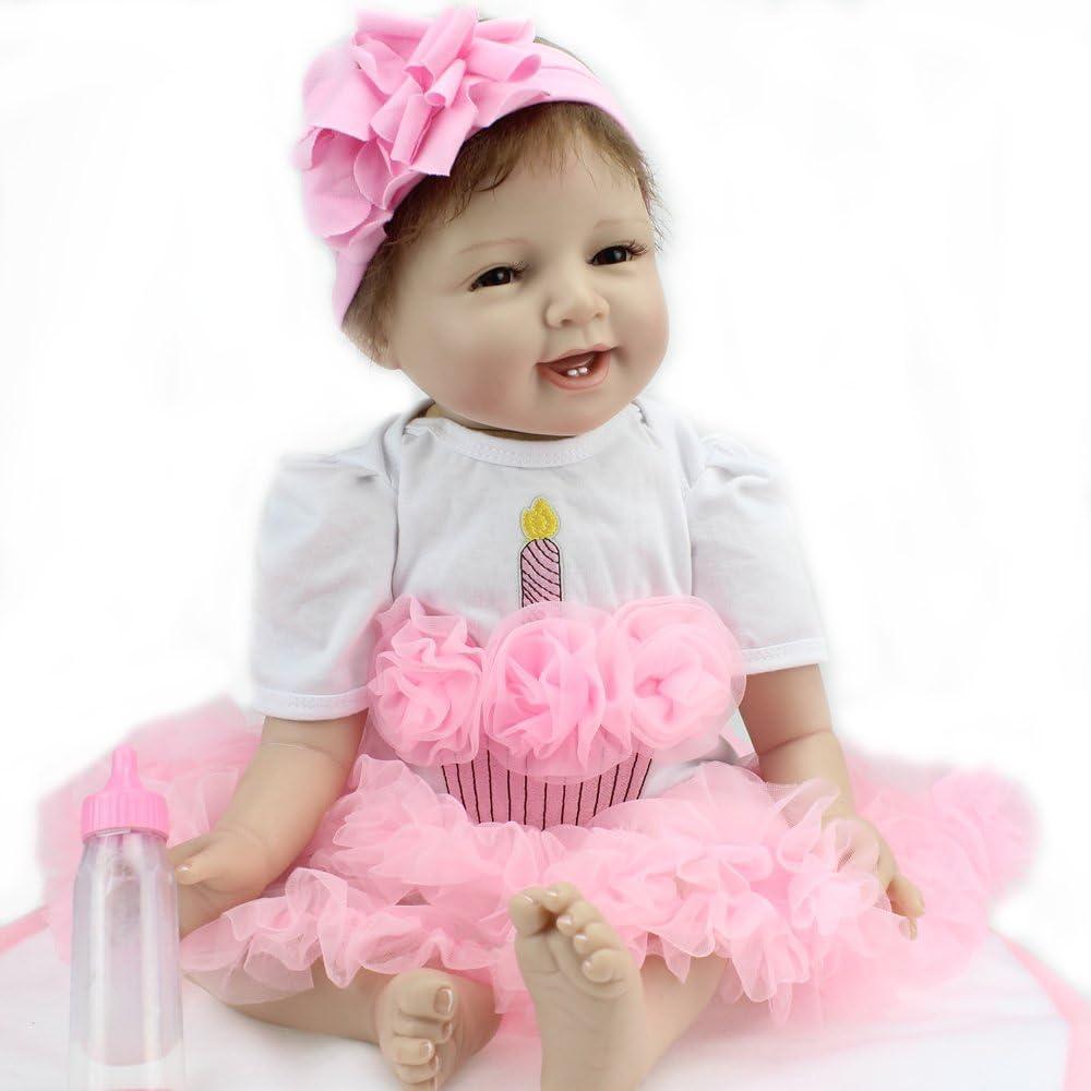 "1PC Real Life 18/"" Reborn Dolls Baby Newborn Realistic Soft Silicone Vinyl Toys"