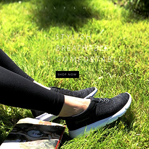 DailyShoes Sneakers Black Mesh Foam Slip Shoes Memory 6207l Walking Women's on xxzwaT