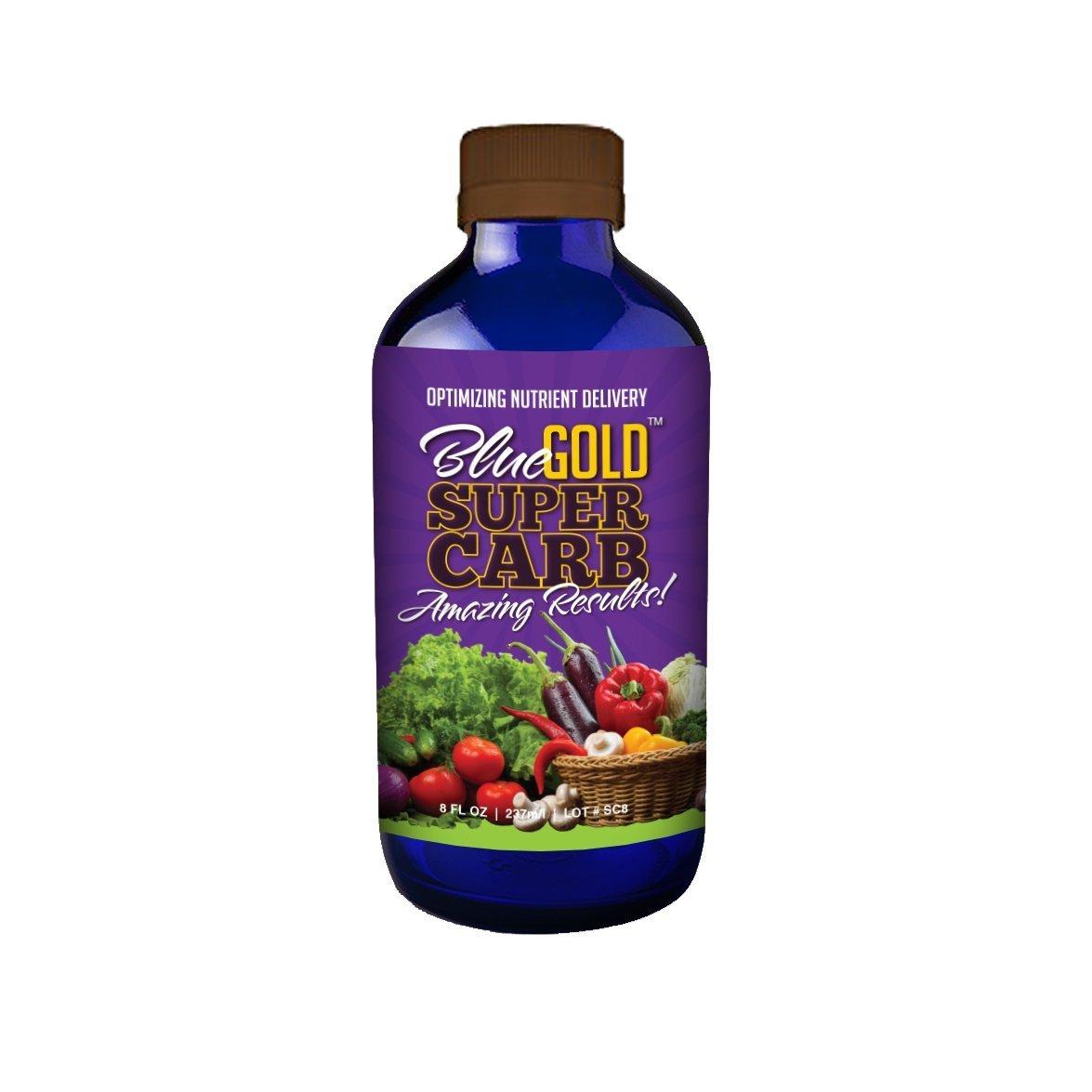 Blue Gold Super Carb, Organic Plant Syrup Enhanced Molasses, Concentrate 8 fl. oz. Bottle