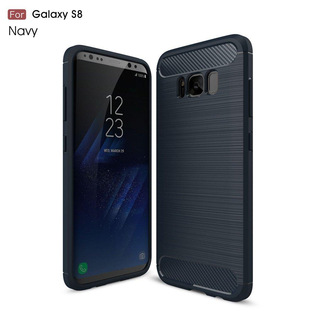 Cover Samsung Galaxy J3 2017 Nero, MHHQ Custodia Samsung Galaxy S8 Plus TPU Silicone Case Custodia Shock-Absorption Bumper e Anti-Scratch Back per Samsung Galaxy J3 2017 J330
