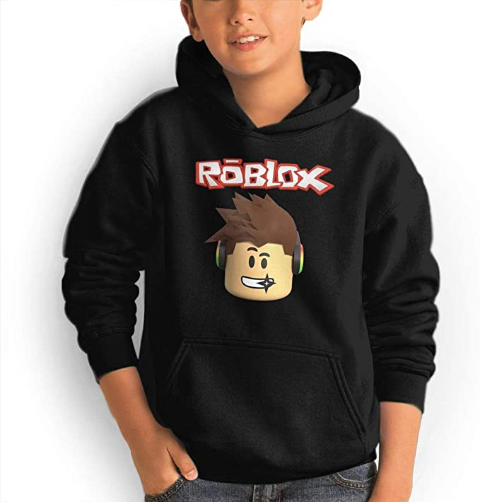 Teen Hoodies Roblox Hooded Sweatshirt Cool Aesthetic Pullover Hoodie For Boys Girls Teens - black hoodie roblox