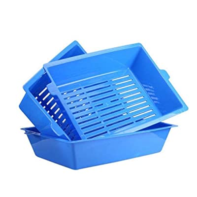 Studyset 3 in 1 Self Sifting Tray Cat Litter Box Simple Stylish Antimicrobial Pet Cat Toilet Training Tray