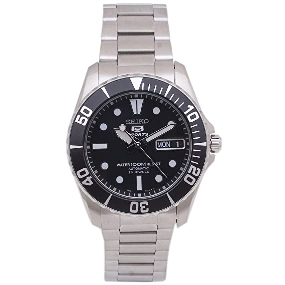 Seiko Watches SNZF29 - Reloj de Pulsera Hombre, Acero Inoxidable, Color Plata: Seiko: Amazon.es: Relojes