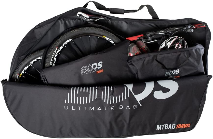 Buds-Sports - Bolsa de bicicleta acolchada MTBag Travel - Bolsa de transporte para Bicicleta de montaña sin desmontar la rueda trasera
