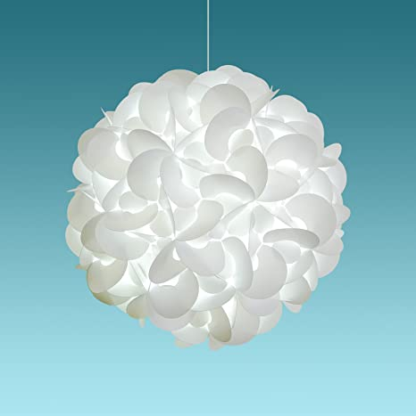 """cheap for discount acb8a 5c96c Akari Lanterns Deluxe Rounds 22"""" wide , Cool White Glow, Modern & Unique  Ceiling Hanging Light Fixtures / Swag Plug in or Hardwire as Pendant Lamp  ..."""