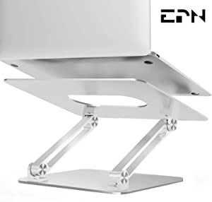 Laptop Stand, EPN Laptop Riser with Heat-Vent to Elevate Laptop, Adjustable Desktop Holder Compatible for MacBook Pro/Air, Surface Laptop, Dell XPS, HP, Samsung, Lenovo and Other 11-17 Inch Notebook
