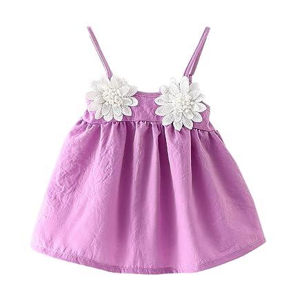 13d0be28ea077 ragazze abiti per 6 – 18 mesi, Jyjm Fashion cute Toddler Girls estate senza  maniche