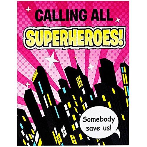 Superhero Girl Party Supplies - Invitations
