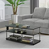 Convenience Concepts 131082BL Coffee Table, Black Woodgrain