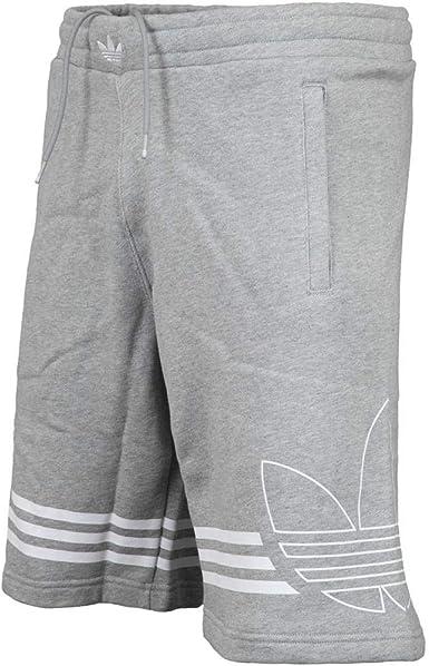 Pantalones Cortos Adidas Outline Gris S Amazon Es Ropa Y Accesorios