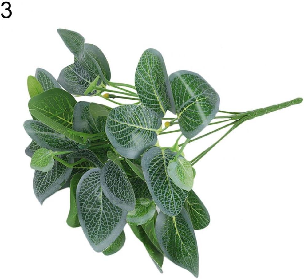 Gr/ün K/ünstliche Pflanzen 1/Bouquet K/ünstliche Pflanzen Fake Blume Pflanze f/ür Hochzeit Party Garten Dekoration Einheitsgr/ö/ße 1# plastik