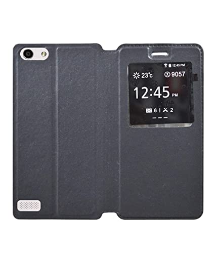 new style 09556 efd37 COVERNEW Flip Cover for Oppo Neo 7 -A33F - Black: Buy COVERNEW Flip ...