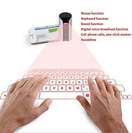 Amazon com: LYJ Virtual Laser Projection Keyboard Mouse Wireless
