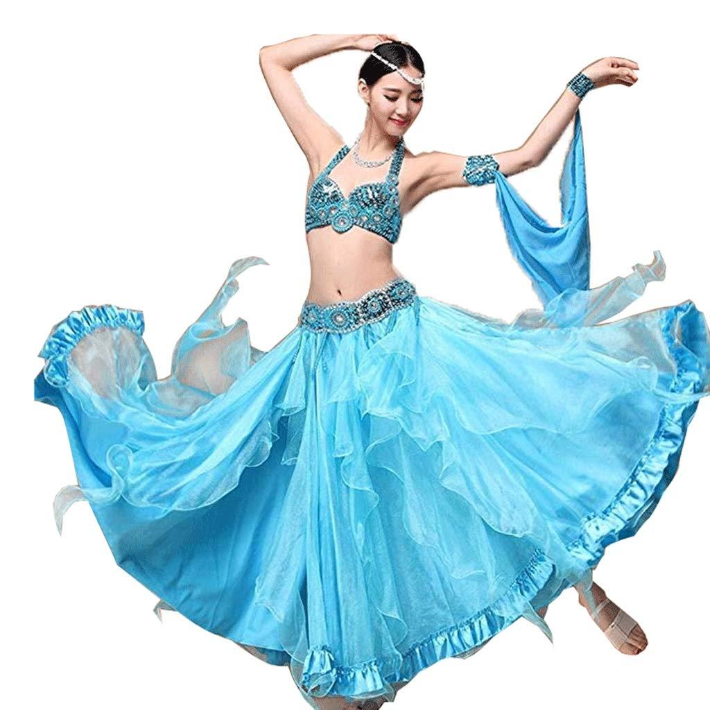 特価商品  女性のためのプロのベリーダンスダンスドレス衣装パフォーマンス衣料品スーツ女性、ビーズのブラジャー S/スパンコールガードル B07Q4W3R5P/ビッグスイングスカート3本 B07Q4W3R5P S s|ブルー ブルー ブルー S s, 【一部予約!】:23ffbc23 --- a0267596.xsph.ru