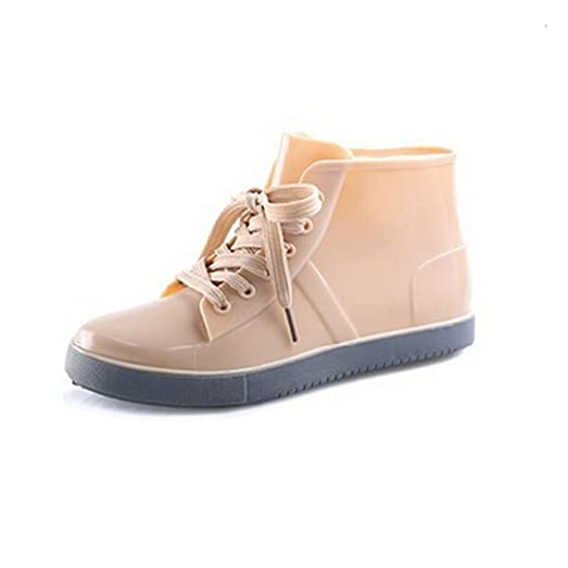 Women's Casual Round Toe Lace Up Waterproof Martin Boots