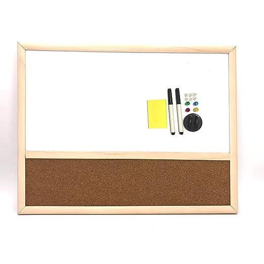 Amazon.com: Tablero magnético de borrado en seco con marco ...