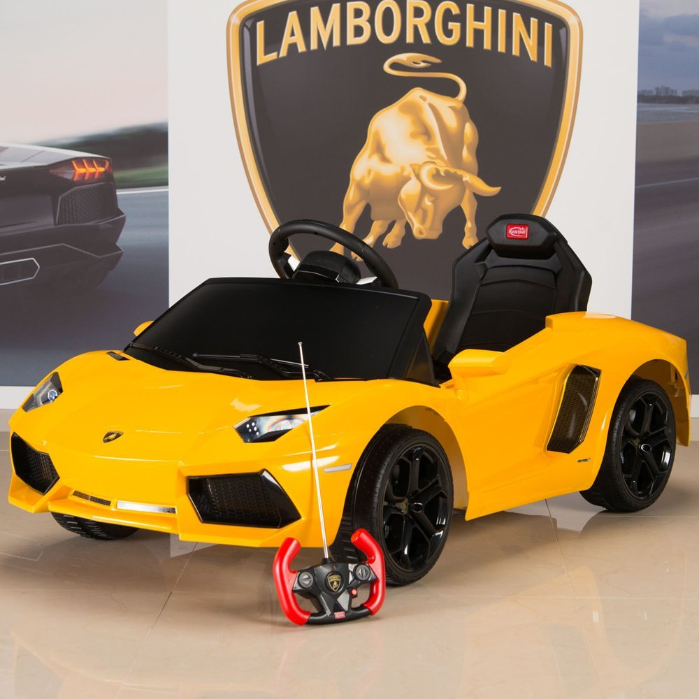 Amazon.com: Lamborghini Aventador 6V Ride On Kids Battery Powered ...