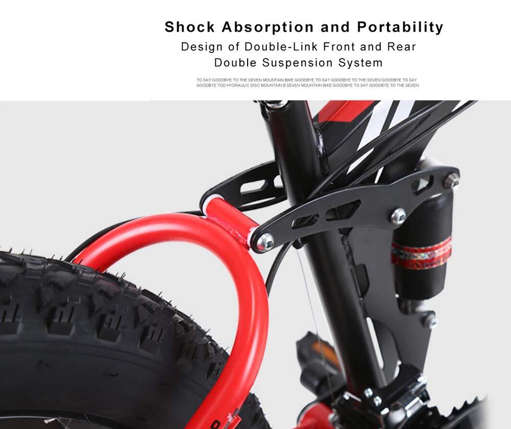 26 inch Mountain Bike Foldable Steel Frame Width Wheel 4.0 MTB 21//24//27 Speed with Double Disc Brakes