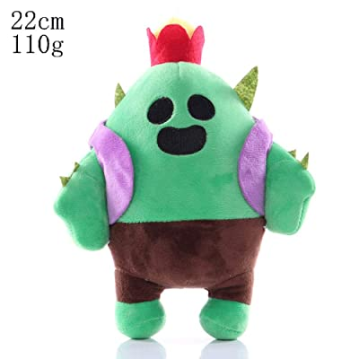 HHtoy Cactus Plush Figures Toy Brawl Stars Anime Game Stuffed Soft Doll for Children Kids Cactus Pendant Pillow Cushion Gift (Size : 22cm): Home & Kitchen