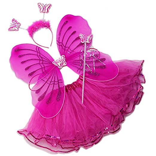 Wenchoice Tutu And Wings (12M To 5years, Hot Pink   Fairy)