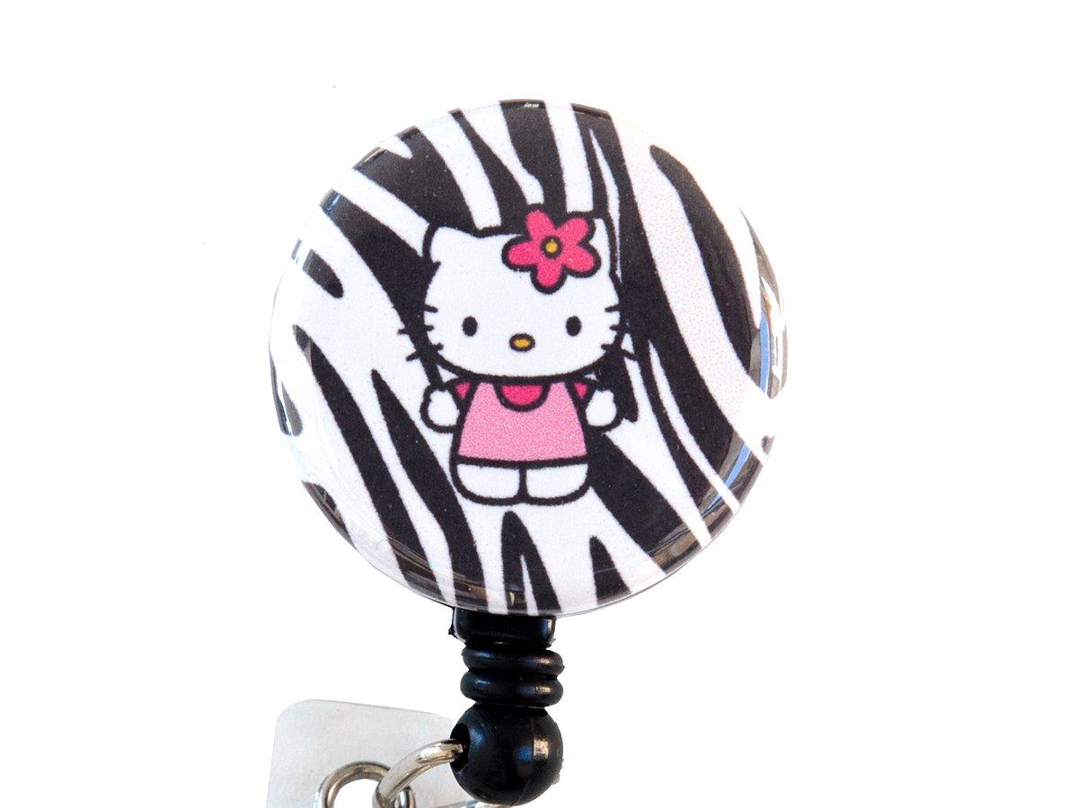Zebra Hello Kitty Kitty Hello 3,18 cm carrete de la divisa/identificadores/soporte de identificación retráctil 159b68